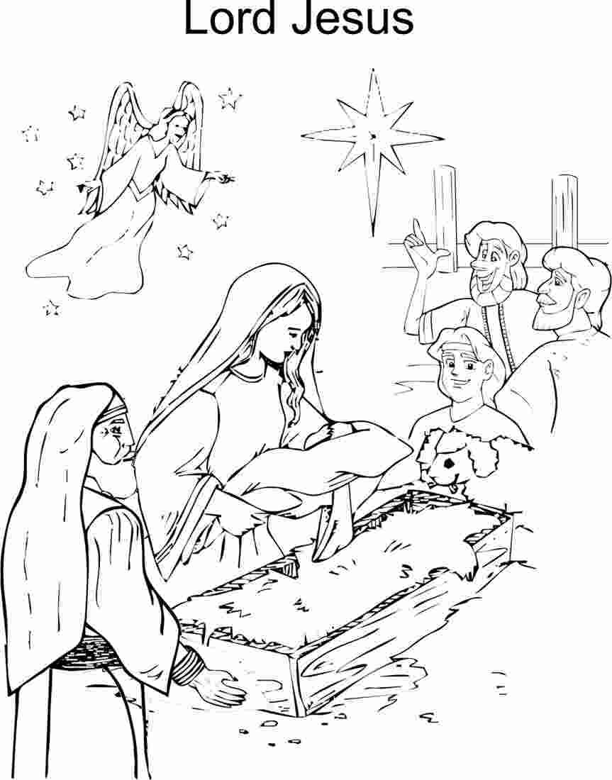 Free Birth Of Jesus Coloring Pages Jesus Birth Coloring Printable