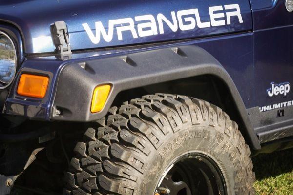 The PreOwned Jeep Store   All Terrain Fender Flare Kit For 97 06 Wrangler  (TJ) Rugged Ridge, ...