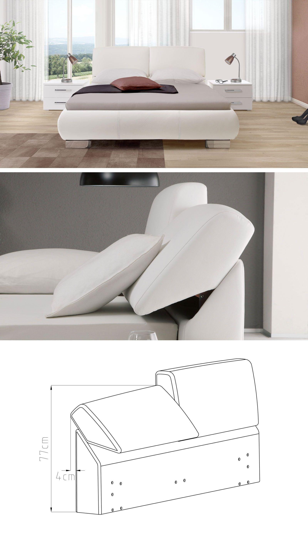 Luxusriöses Echtlederbett mit verstellbarem Kopfteilpolster. Entspannen angesagt! | Betten.de #luxus #bett #echtleder #weiss #modern http://www.betten.de/echt-leder-polsterbett-braun-pera.html