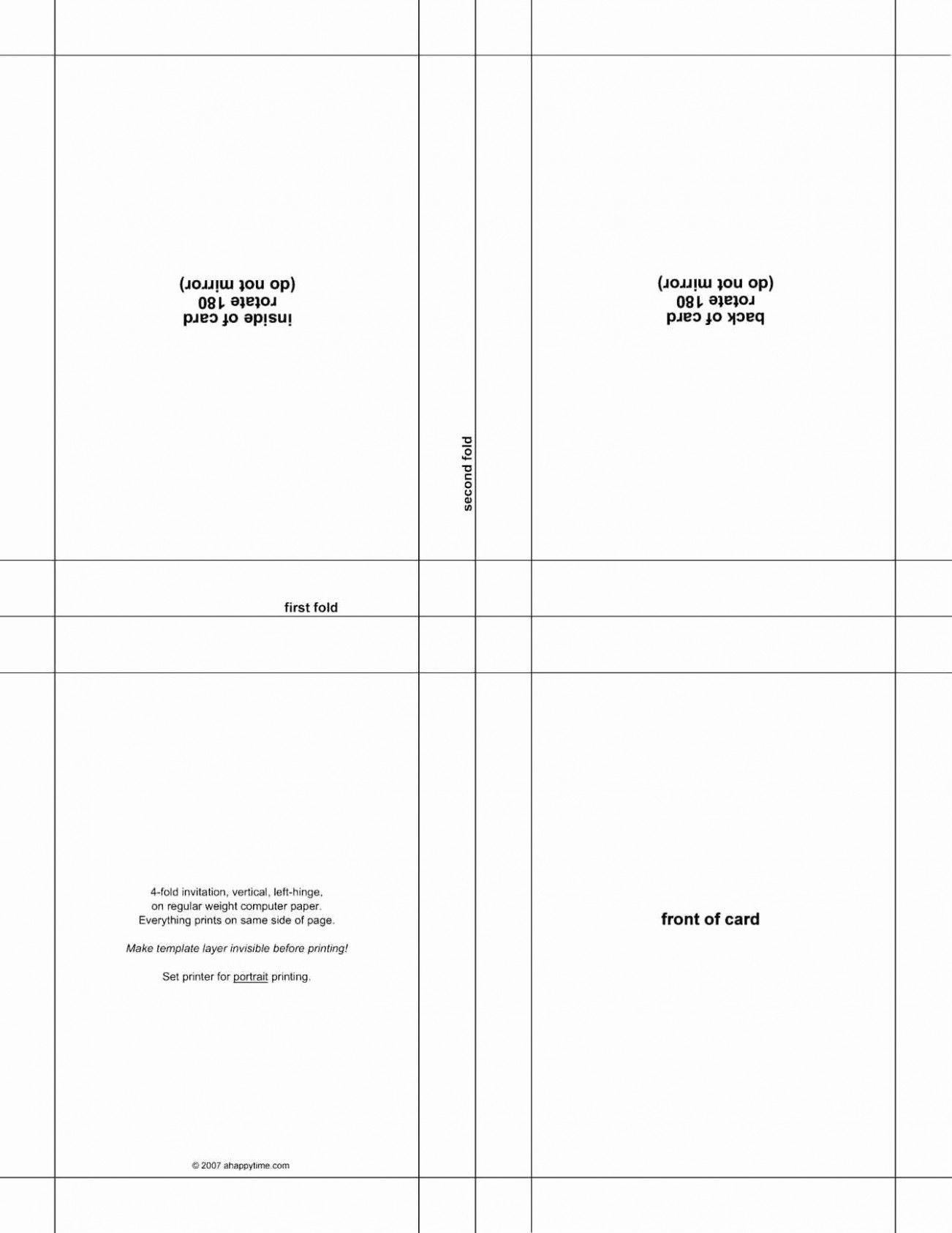 Blank Quarter Fold Card Template Microsoft Word Greeting Card Template Birthday Card Template Card Template