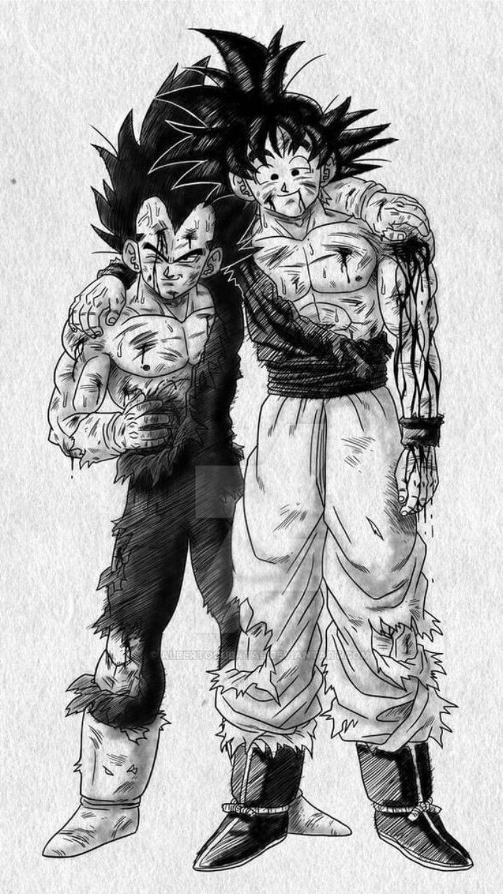 Goku And Vegata Dibujo De Goku Personajes De Dragon Ball