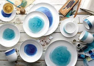 Ecology Watercolour & Ecology Watercolour | Plates spoons mugs... | Pinterest ...