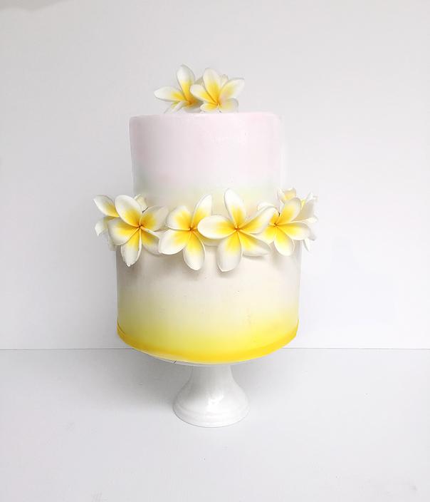 Frangipani Love Wedding Cake! #weddingcake #perthbride #perthwedding ...