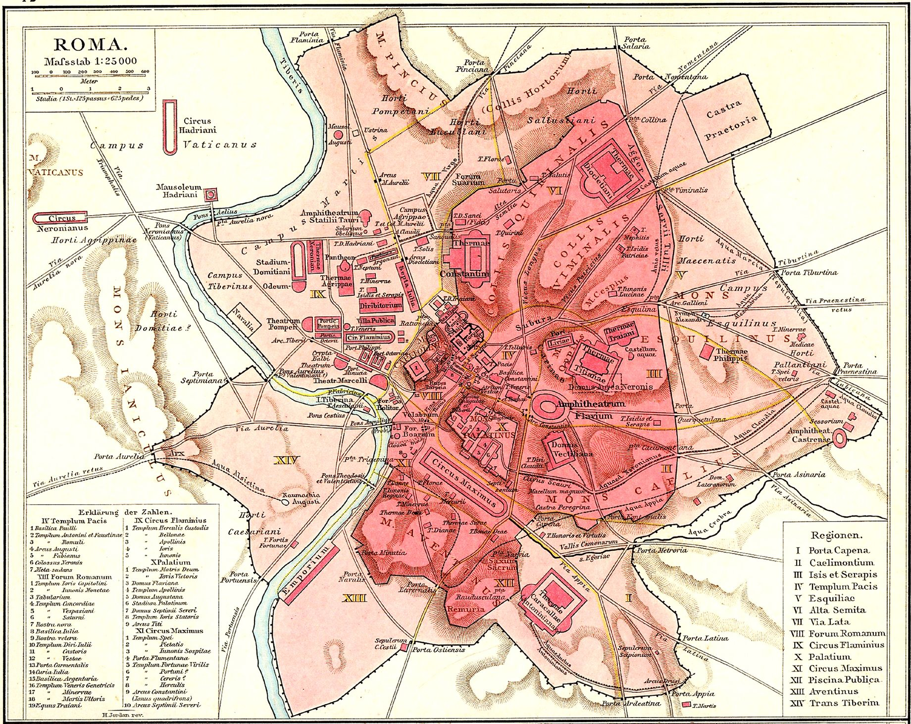 Best Roma Maps Of The Ancient City Images On Pinterest - Ancient rome map outline