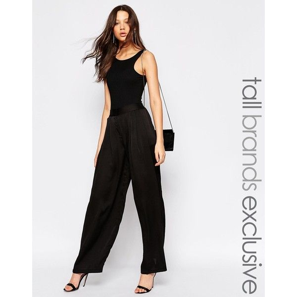 High Waisted Wide Leg Trouser - Black Y.A.S. Tall eOaUJv