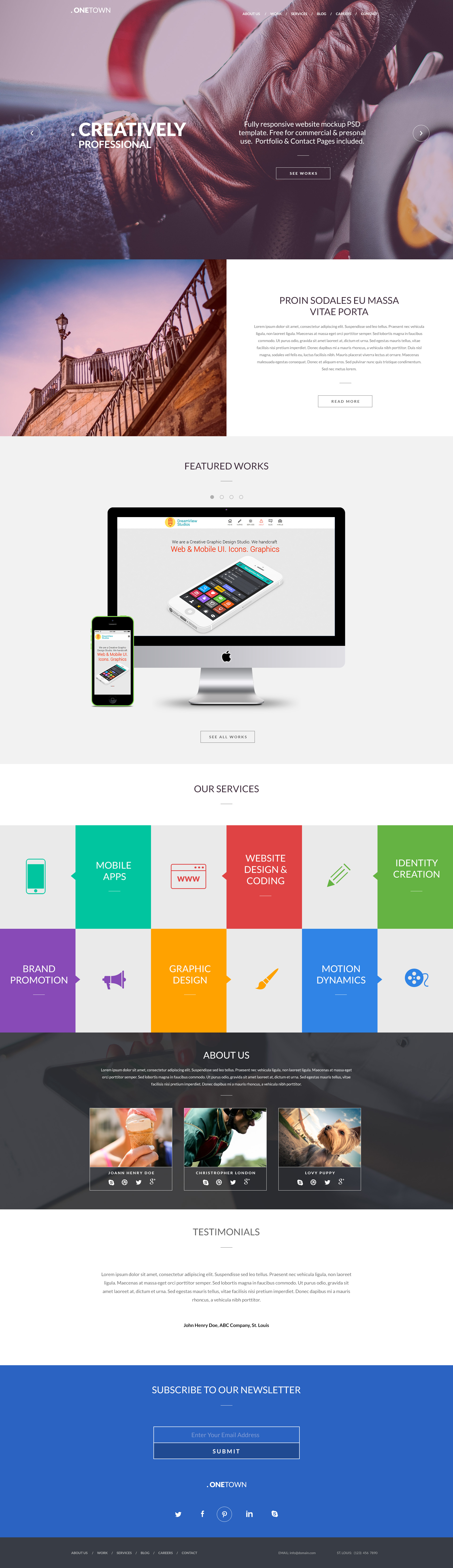 Free Responsive Website PSD Templates Pinterest Psd Templates - Full responsive website templates