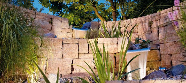 Der Bachlauf für den eigenen Garten KLASSIKLINE antik Sandstein