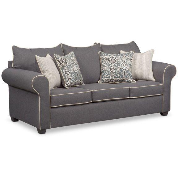 Carla Sofa Gray Value City Furniture Value City Furniture