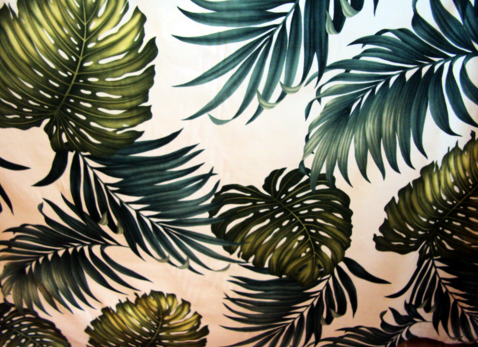 30monstera Tropical Leaves Apparel Cotton Tropical