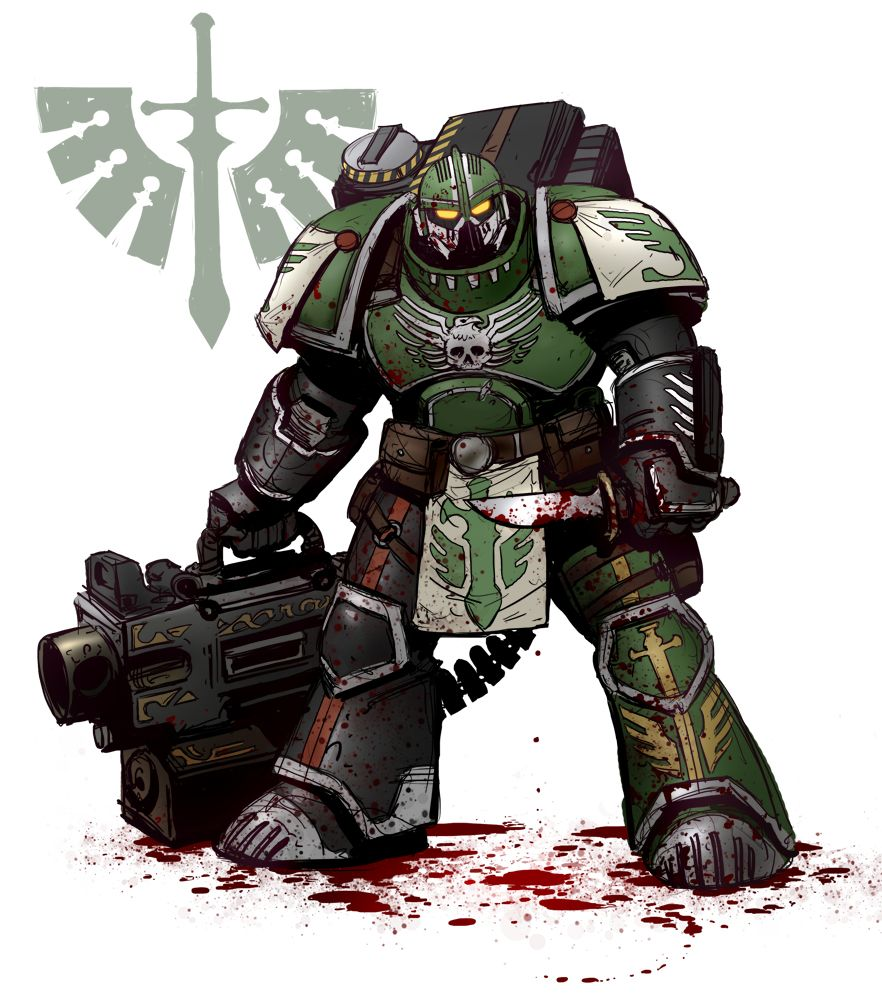 General Warhammer 40k Space Marines: Dark Angel Heavy Bolter Devastator