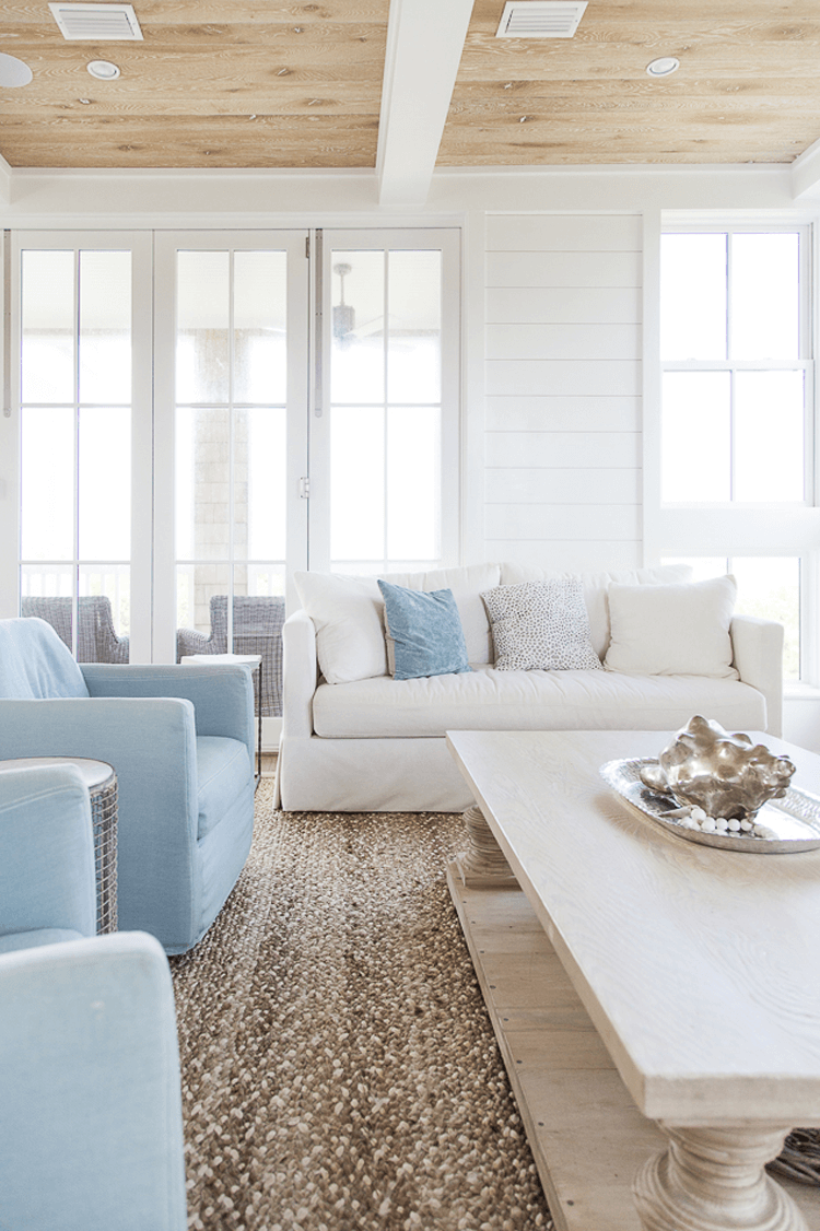 A Tan And Blue Color Palette For Coastal Living Rooms Concepts And Colorways Blue Living Room Brown Living Room Coastal Living Rooms