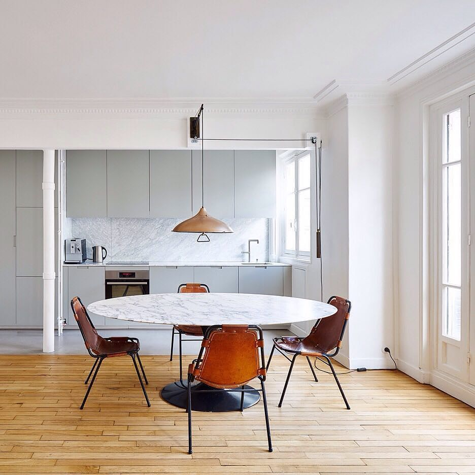 Local Studio Apartments: Flooring Made From Concrete Wood And Two Types Of Tile