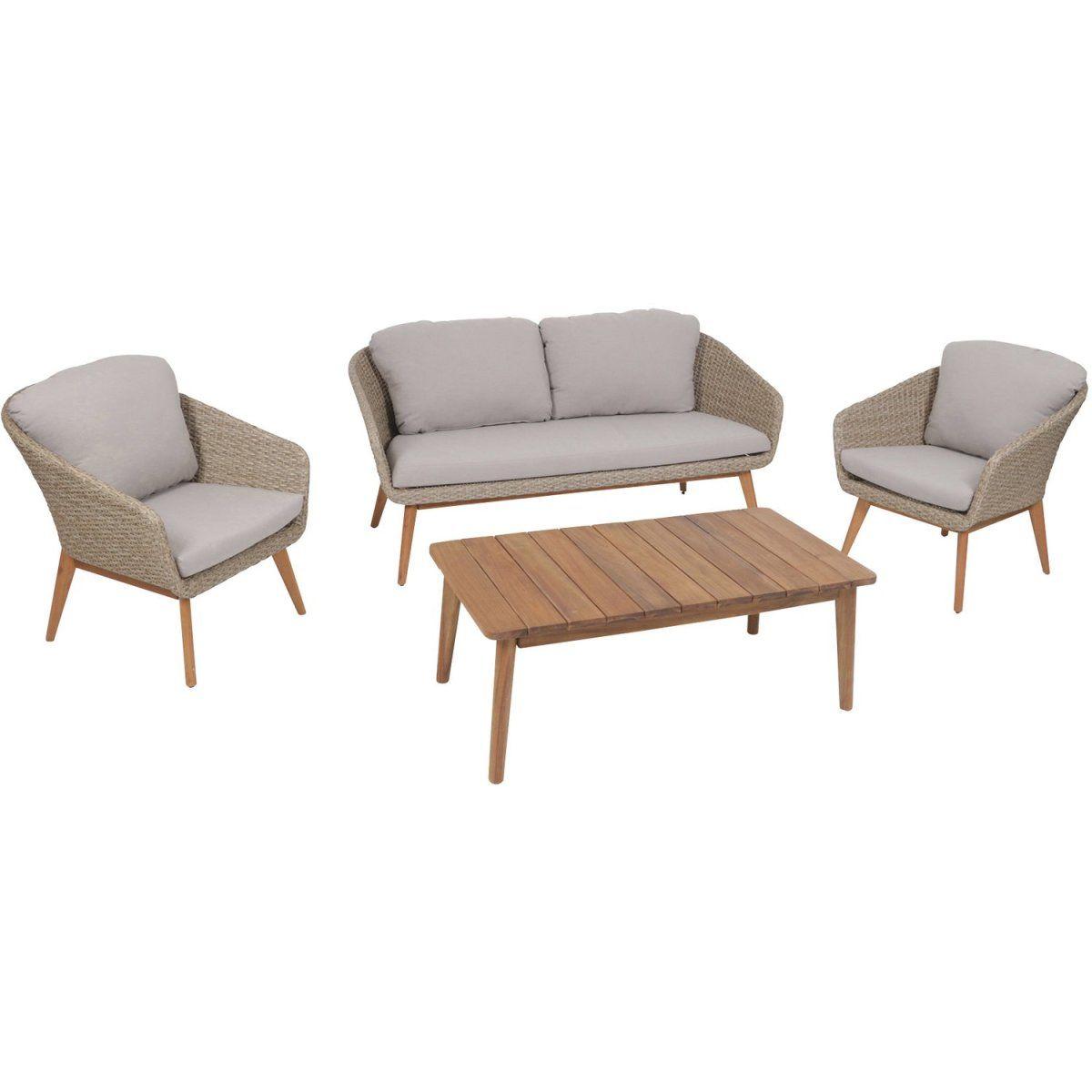 Greemotion Lounge-Gruppe Murcia inkl. Auflagen und Rückenkissen ...