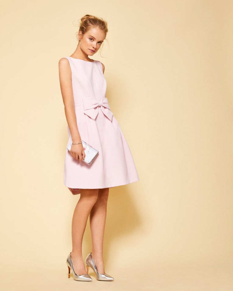 Statement bow dress Mid Pink | Dresses | Ted Baker UK
