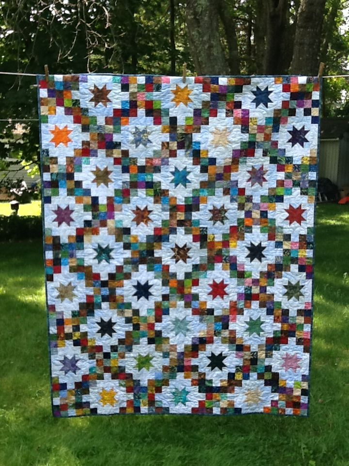 Double Irish Chain Stars Double Irish Chain Quilt Pattern Irish Chain Quilt Pattern Irish Chain Quilt