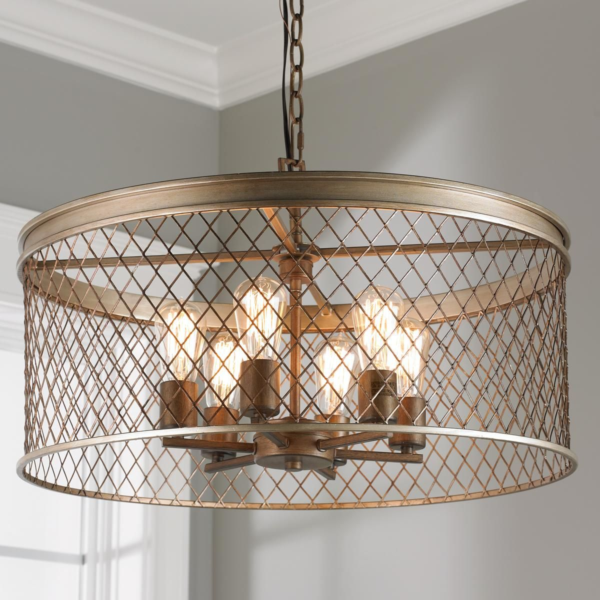 Contemporary cage chandelier 6 light chandeliers contemporary contemporary cage 6 light chandelier 374 more arubaitofo Images