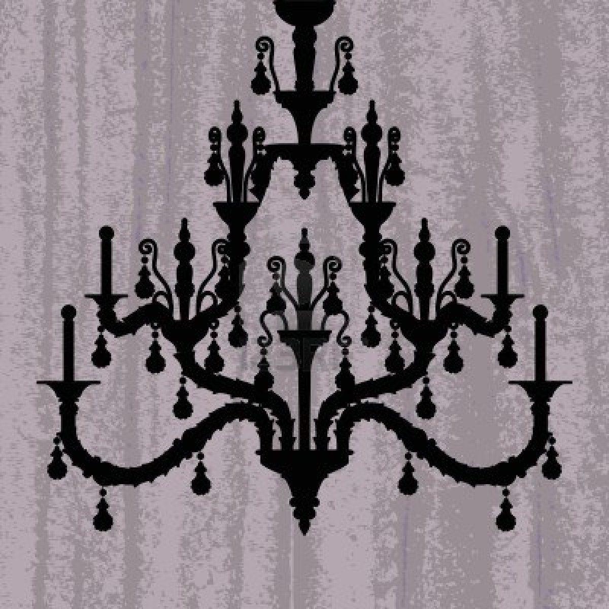 16132859-silueta-de-la-lampara-de-lujo-en-un-papel-pintado-rayado ...