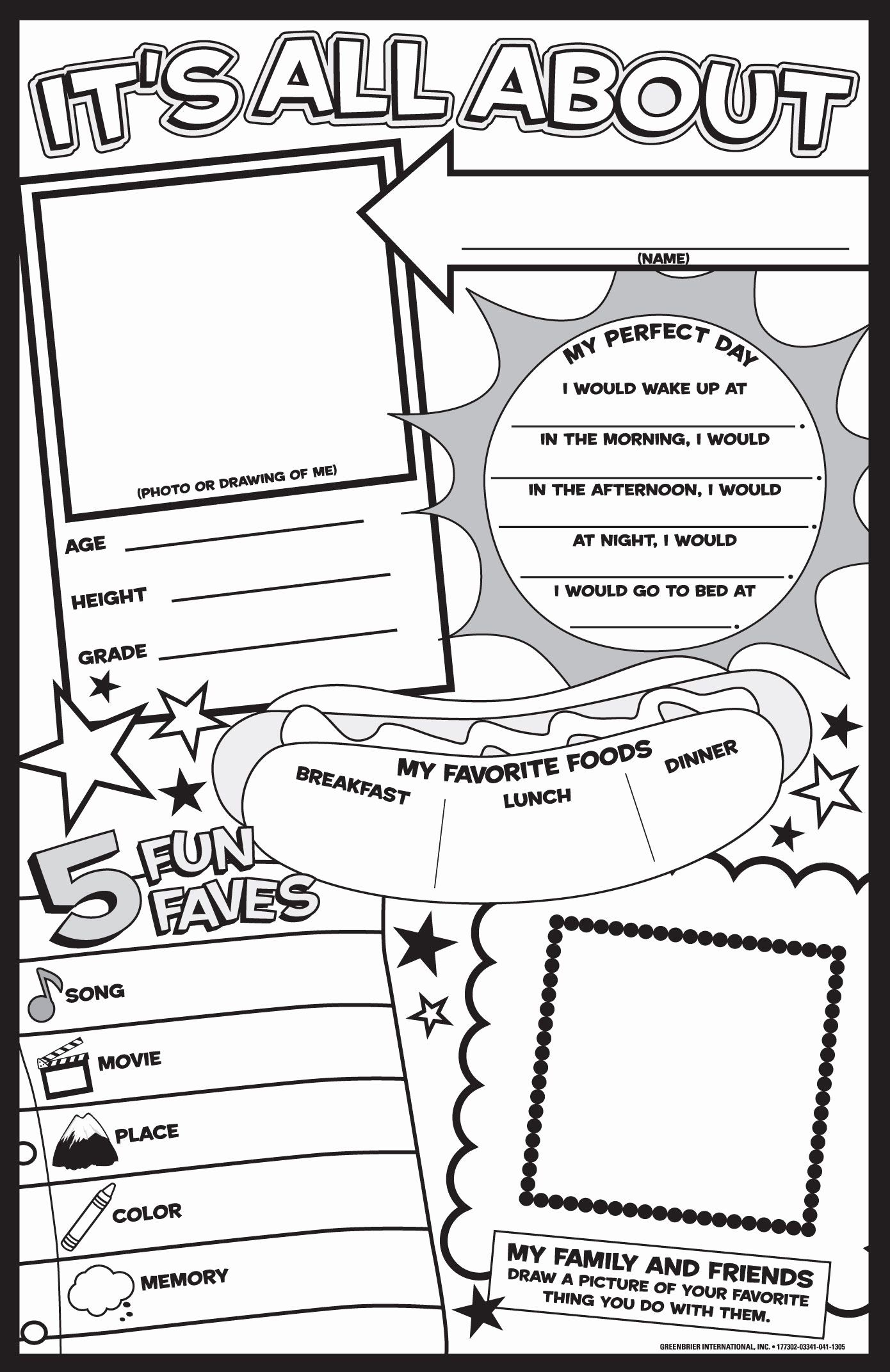 All About Me Worksheet Beautiful Nye All About Me