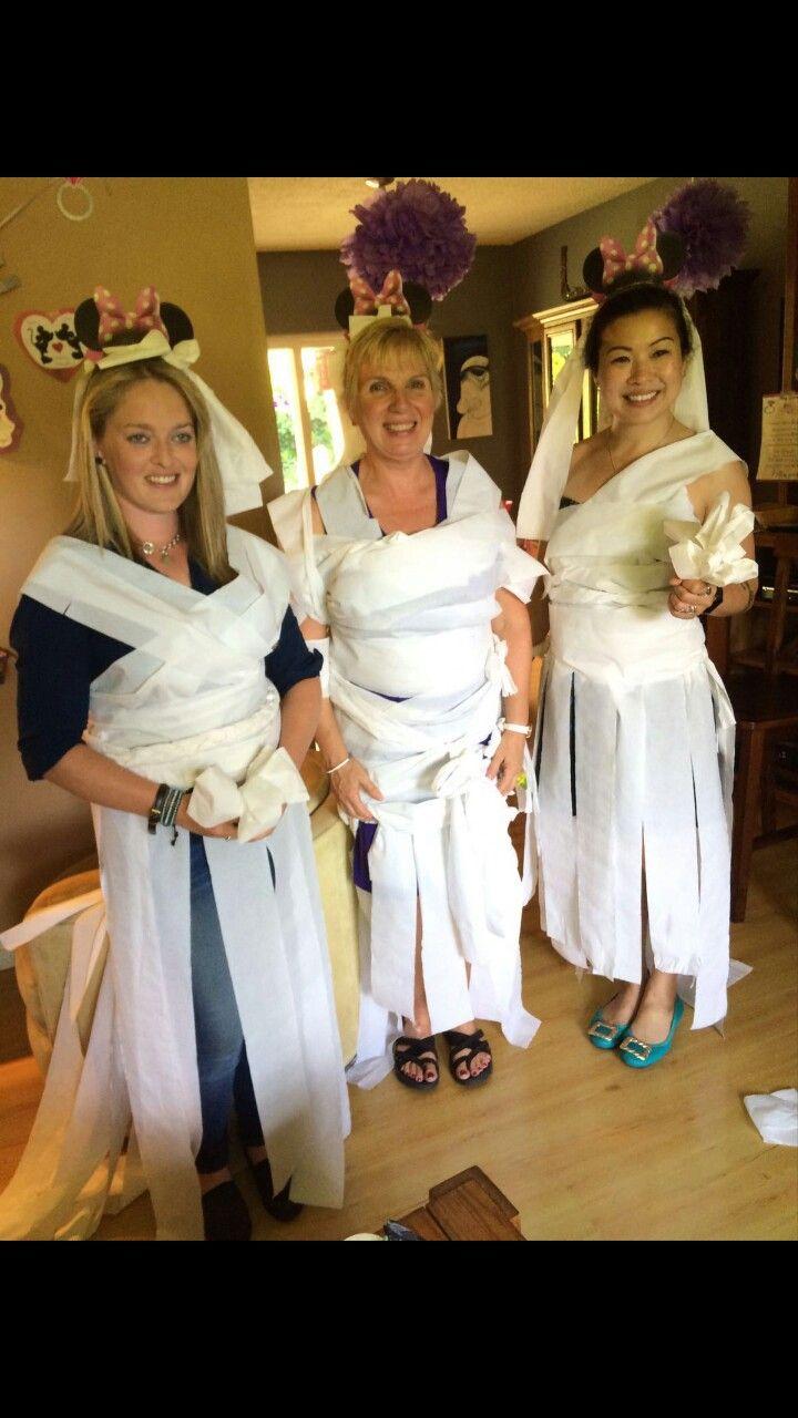 toilet paper dress game not too shabby ahha p bridal shower disney themed