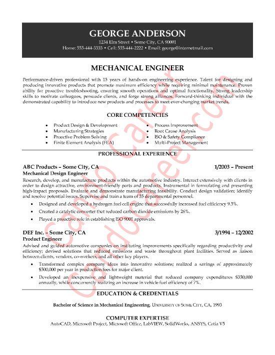 Mechanical Engineer Resume Sample Latest Resume Format Engineering Resume Mechanical Engineer Resume Engineering Resume Templates