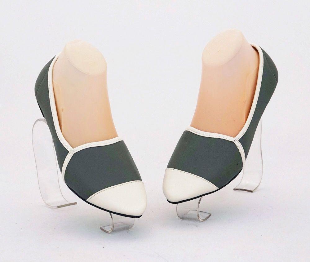 Sepatu Flat Casual Nyaman Di Kaki Warna Abu Bahan Kulit