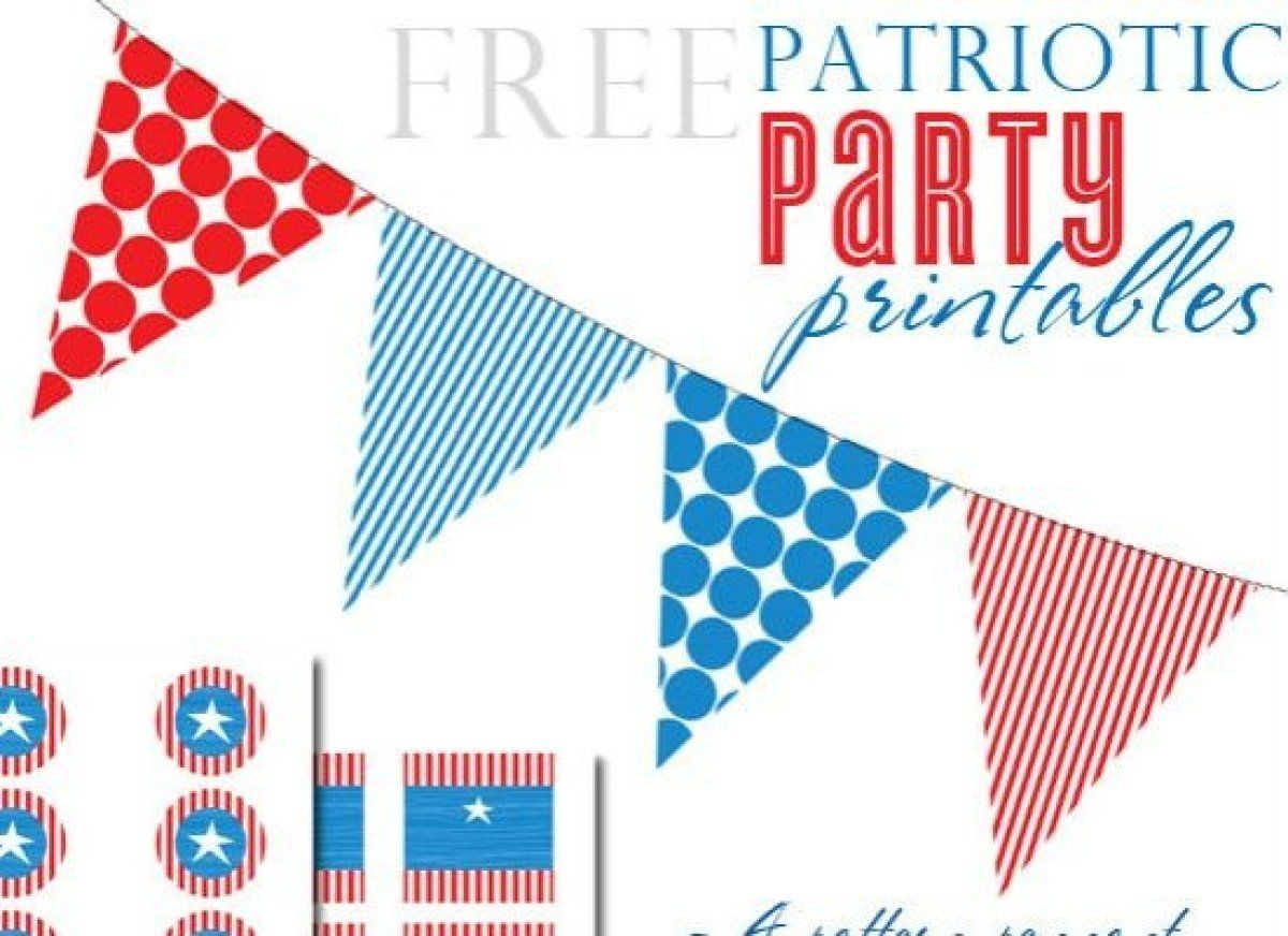14 Free Printable Memorial Day Decorations Favors And