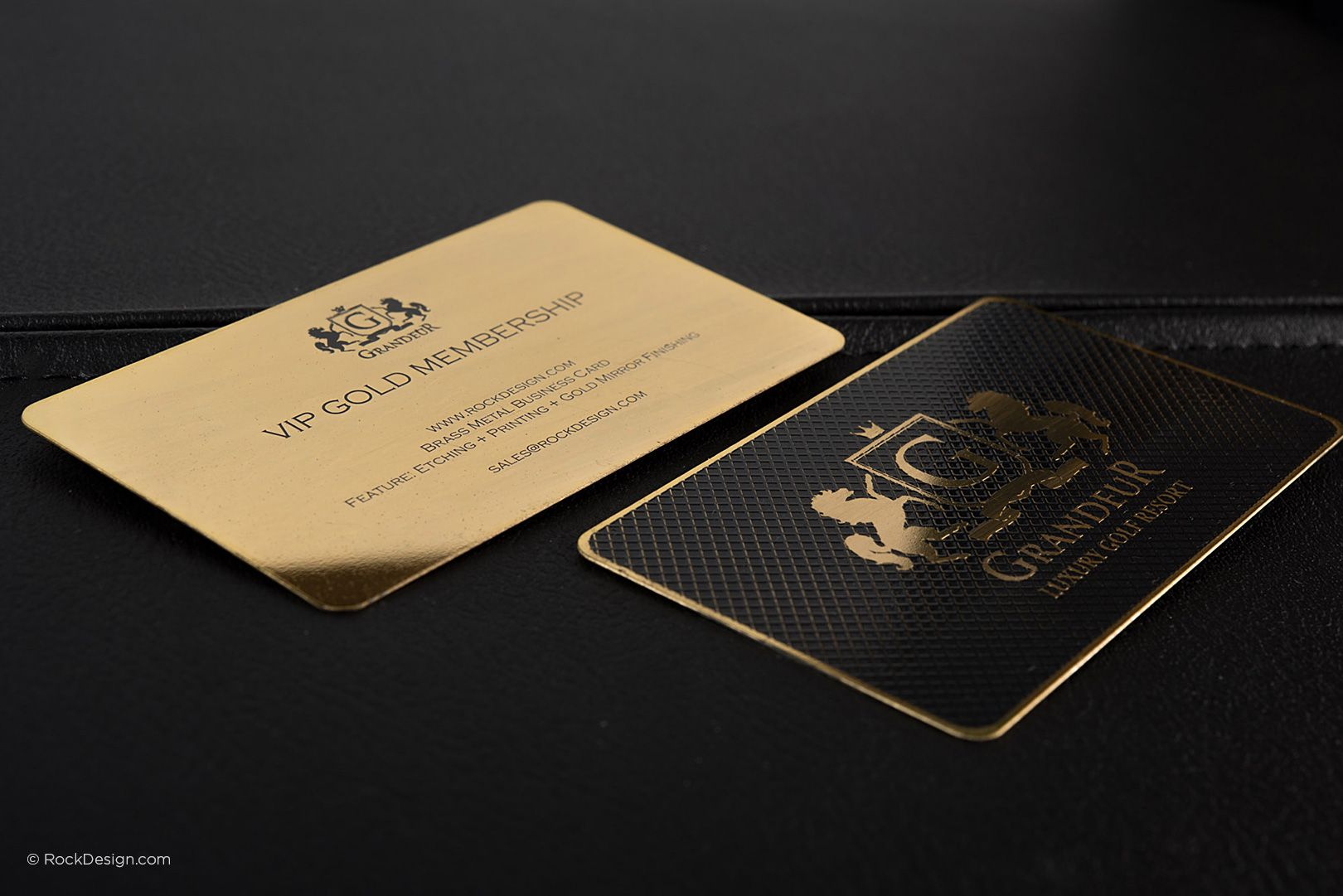 Luxury Gold Metal Business Card - Grandeur | RockDesign Luxury ...
