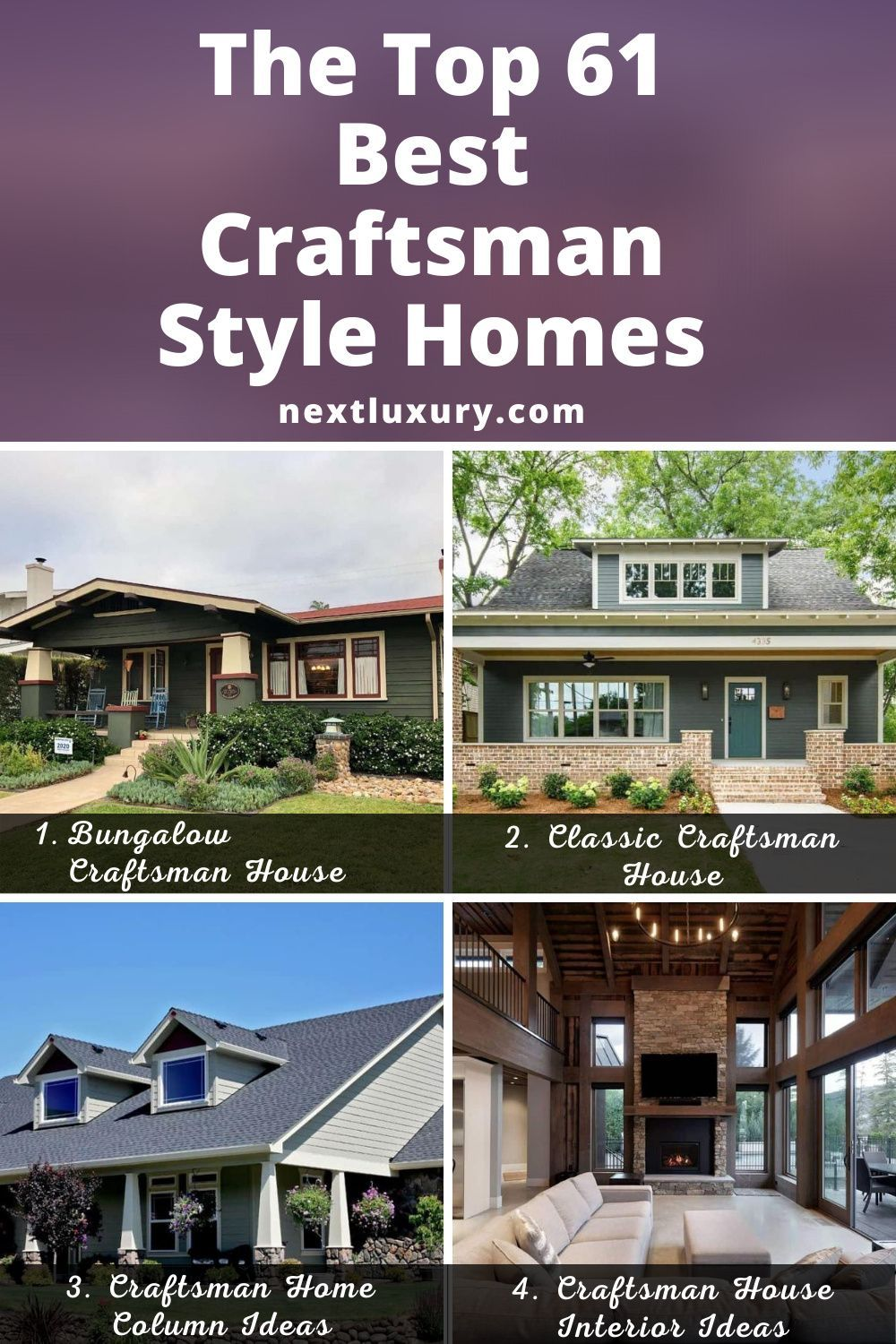The Top 61 Best Craftsman Style Homes Home Design Next Luxury In 2020 Craftsman Style Homes Craftsman House House Columns
