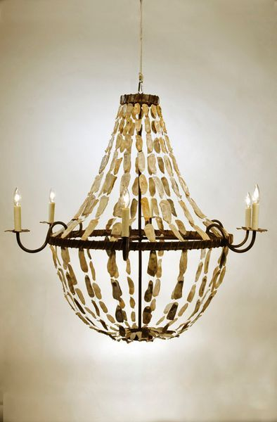 Oyster shell chandelier low country orginials interiors pinterest oyster shell chandelier low country orginials aloadofball Image collections