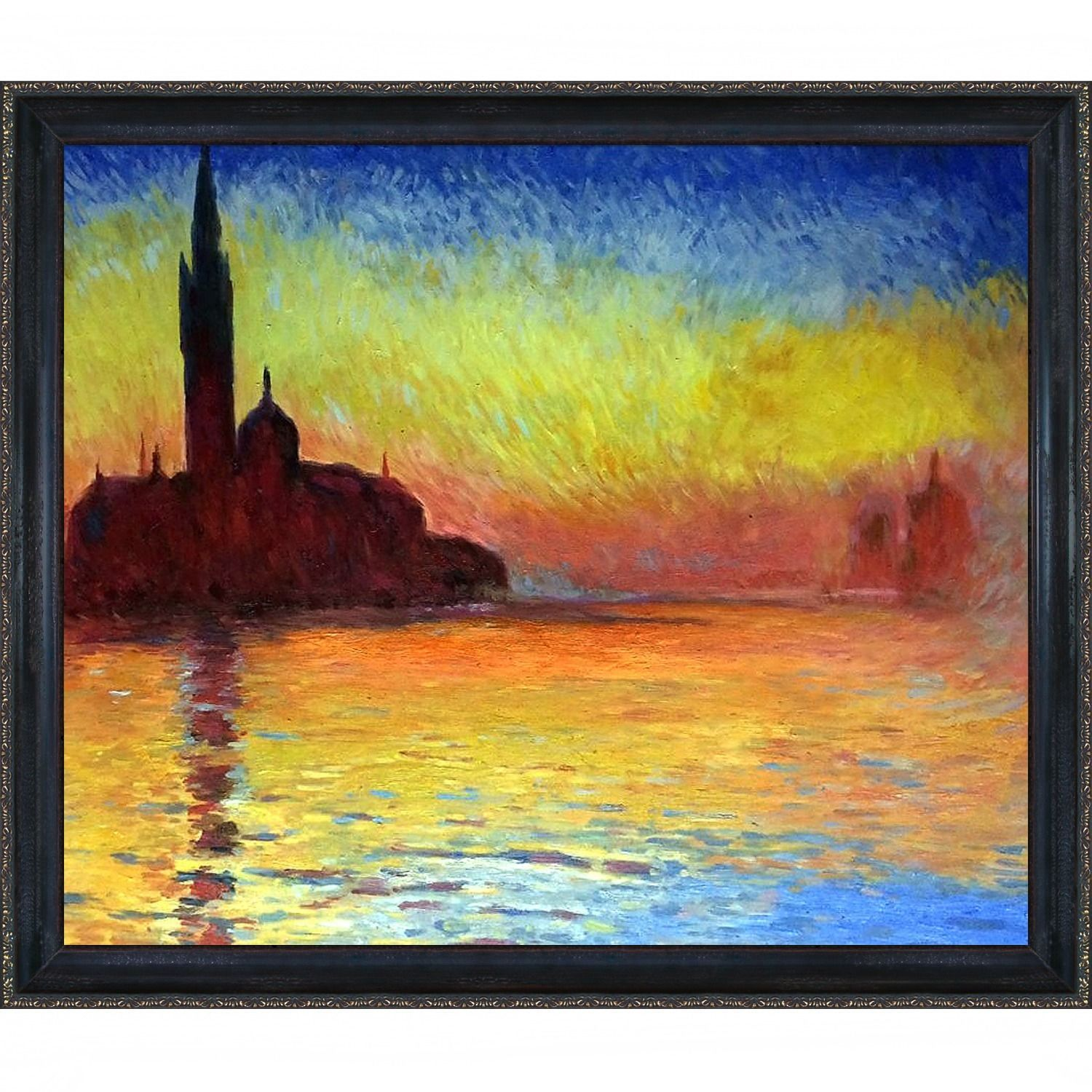 Monet San Giorgio Maggiore By Twilight Hand Painted Framed Art Print