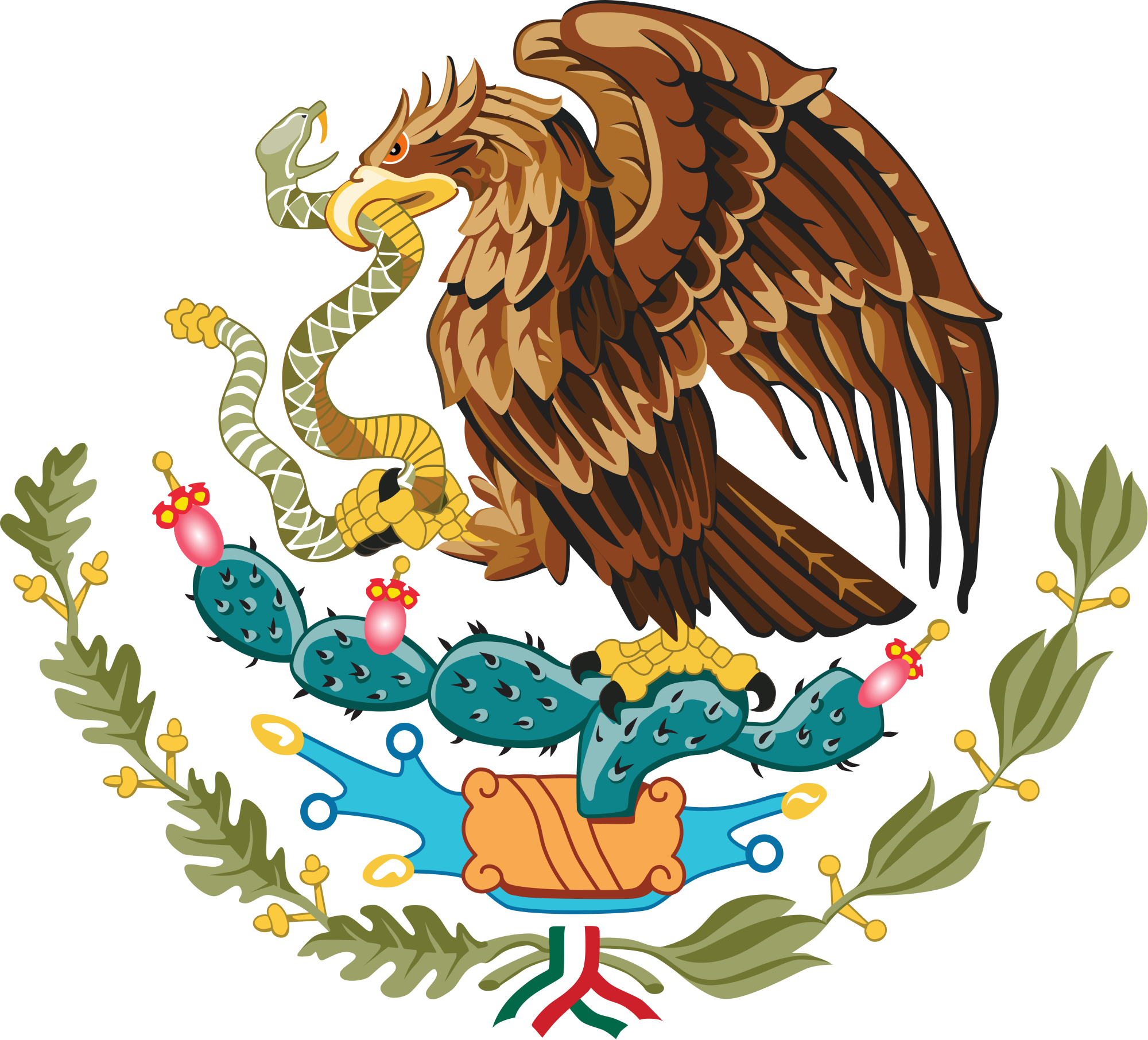 2000px Coat Of Arms Of Mexico Svg Png Png Image 2000x1813 Pixels Scaled 3 Mexican Eagle Mexico Art Mexico Flag
