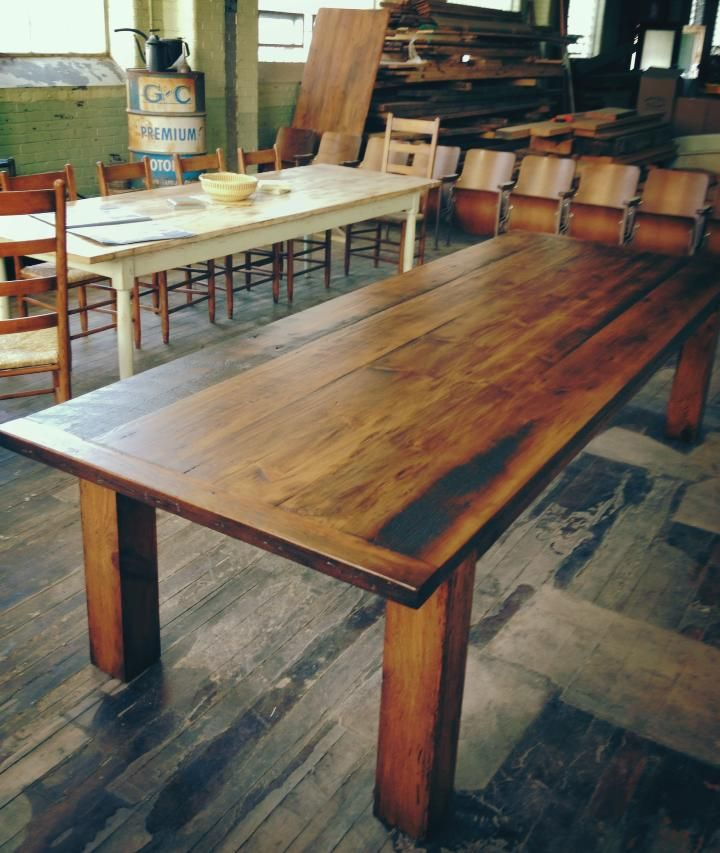New Tavern 10 foot Reclaimed Antique wood Dining table by Mobili