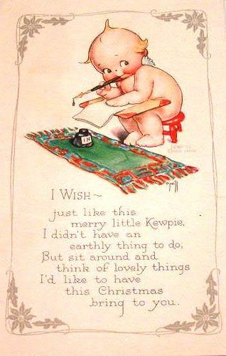 Vintage Kewpie Postcard | von chicks57