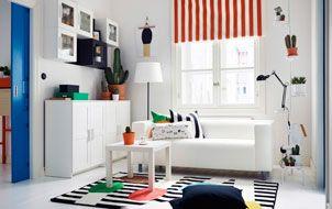 Vrolijk de woonkamer op met streepjes kleur