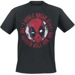 Photo of Deadpool Break Down Herren-T-Shirt – schwarz – Offizieller & Lizenzierter Fanartikel