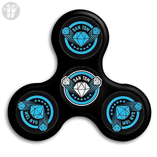 dantdm logo edc tri fidget spinner hand spinner finger spinner finger toy relieve stress high. Black Bedroom Furniture Sets. Home Design Ideas