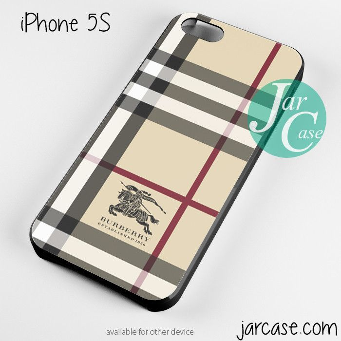 Black Burberry Iphone 5 Case