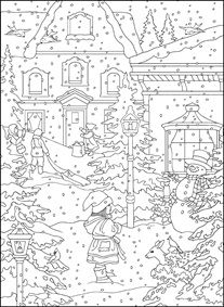 Holiday Coloring Pages   Downloadable   Festive Snowflakes, Stockings,  Snowmen And More! Scenes