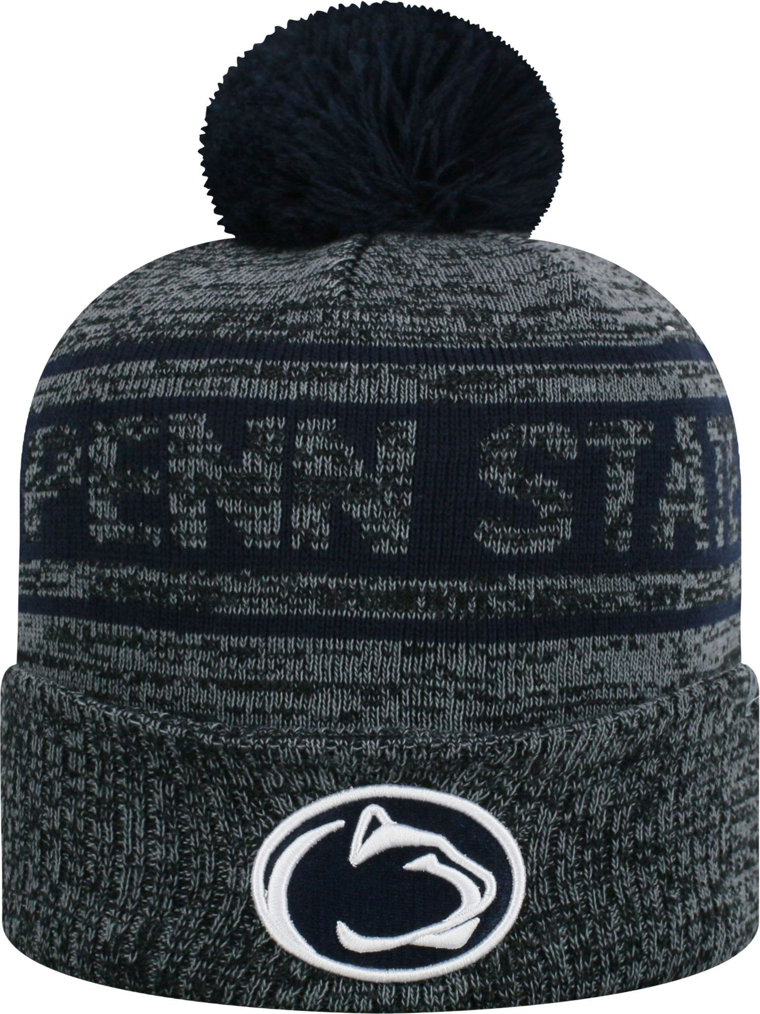 ... sweden top of the world mens penn state nittany sockit to me grey knit  beanie gray ... d5ecb3d6661