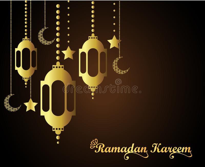 Ramadan Kareem Islamic Greeting Design With Lantern And Calligraphy Vector Illustration Greeting Card Template Islamic Design Ramadan Kareem