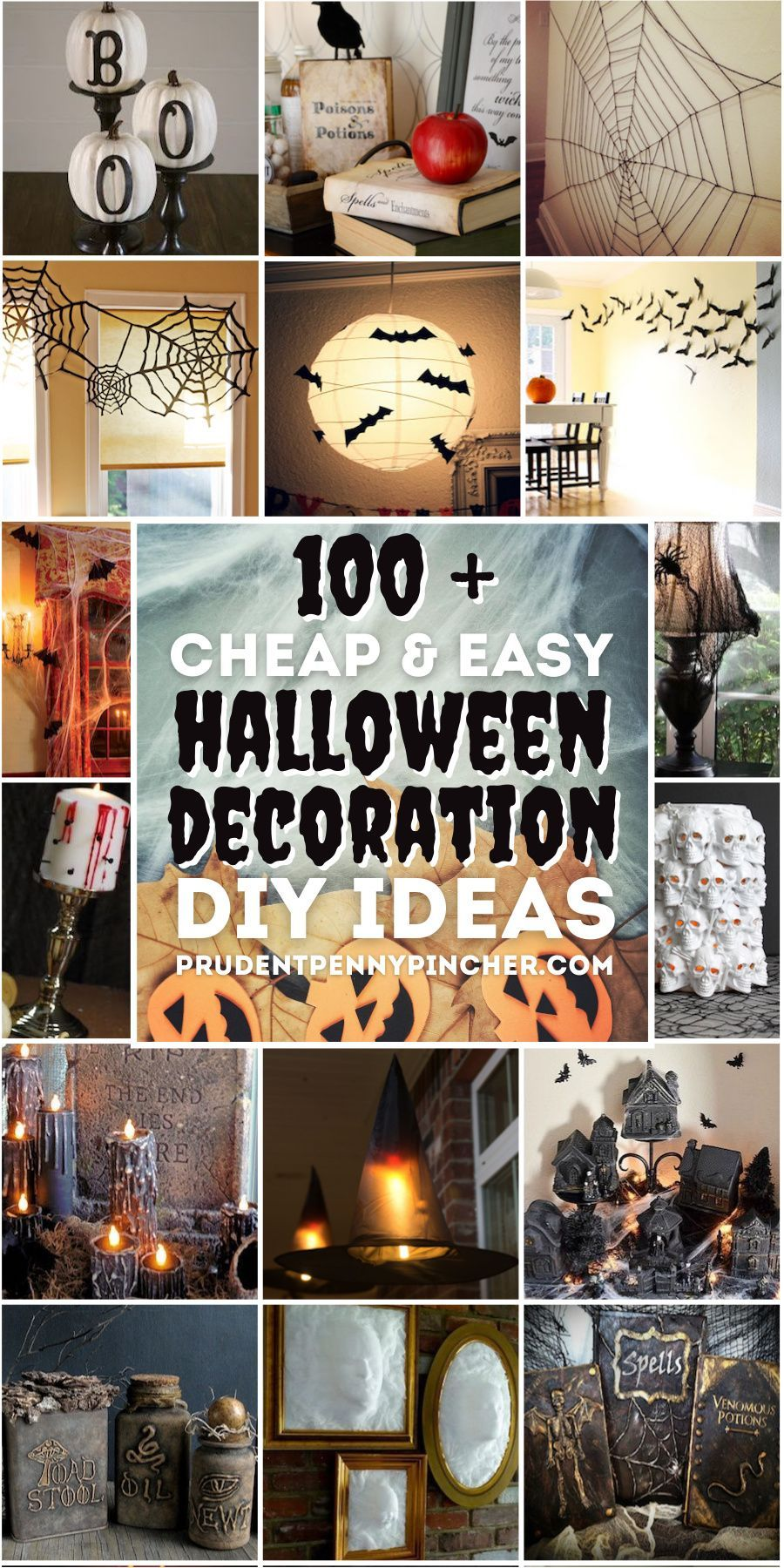 Photo of 100 Cheap and Easy DIY Halloween Decor Ideas