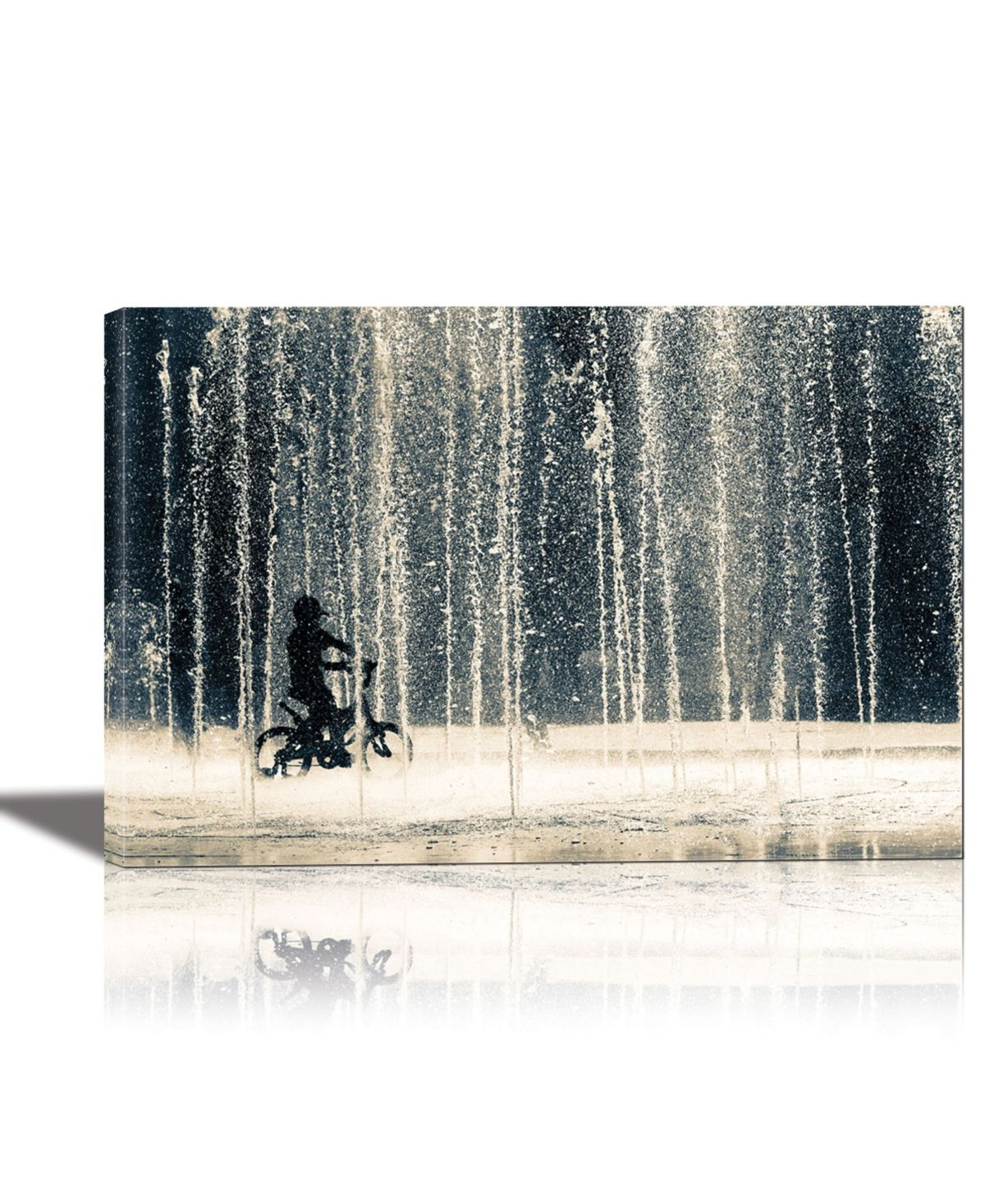 Eurographics Ride Through The Drops Framed Canvas Wall Art Multi Global Gallery Framed Canvas Wall Art Graphic Art Print