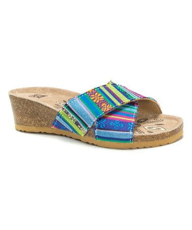 Look what I found on #zulily! Blue & Yellow Stripe Helene Sandal - Women #zulilyfinds
