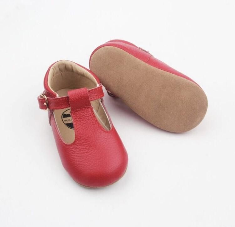 1619d30467b Mary Jane - Red | West Coast Mocs | Kid shoes, Toddler shoes, Baby shoes