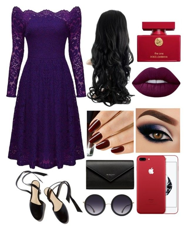 """""""Untitled #1765"""" by kaninekiller ❤ liked on Polyvore featuring Dolce&Gabbana, Lime Crime, Balenciaga and Alice + Olivia"""