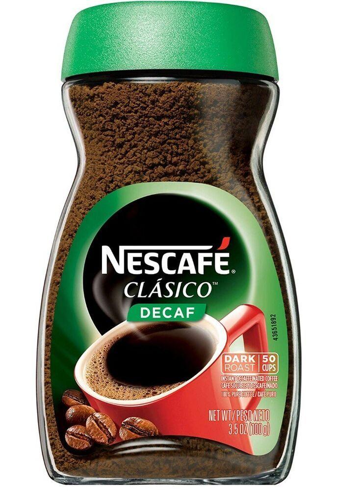 Nescafe Clasico Decaf Instant Coffee, 3.5 oz 28000544652