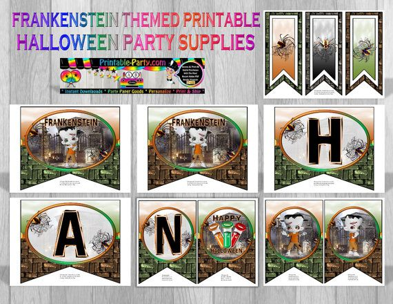 Designed By wwwPrintable-Party Frankenstein printable