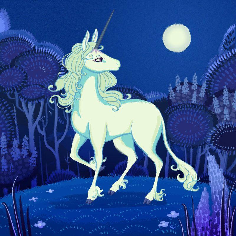 The Last Unicorn by *StressedJenny on deviantART
