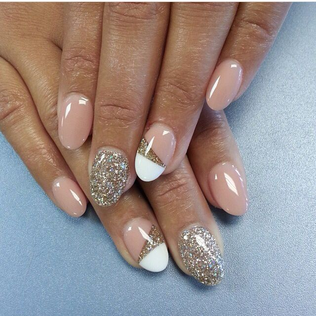 Neutral color, design and glitter | nail ideas | Pinterest | Neutral ...