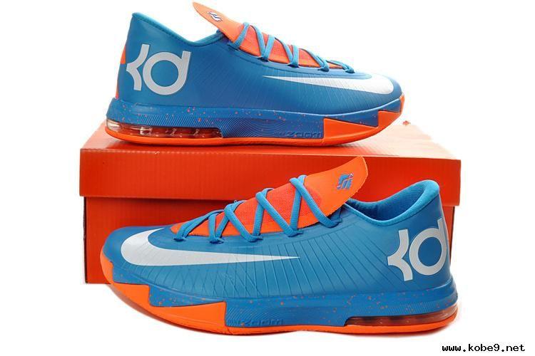 Buy?For Sale 599424-088 Nike KD 6 Mens Basketball Shoes Blue Orange White
